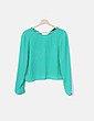 Blusa fluida verde Zara