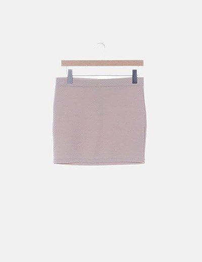 Falda mini texturizada