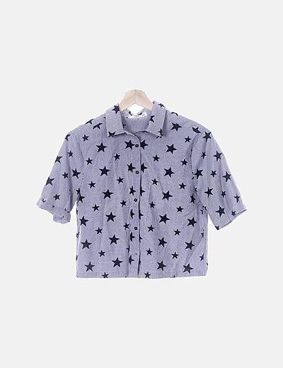 Camisa de rayas con print estrellas