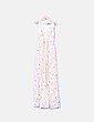 Maxi vestido color crudo estampado floral Zara