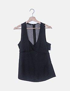 Zara Blusa negra transparente con topos (descuento 65