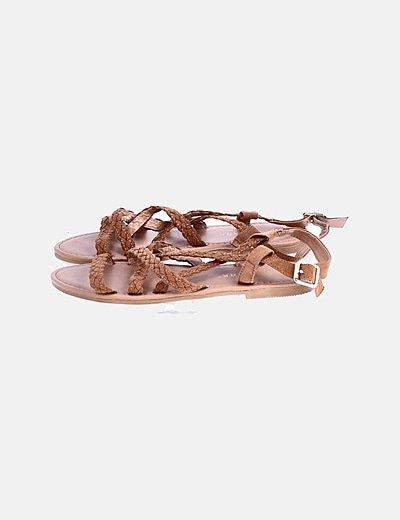 Sandalias trenzadas marrones