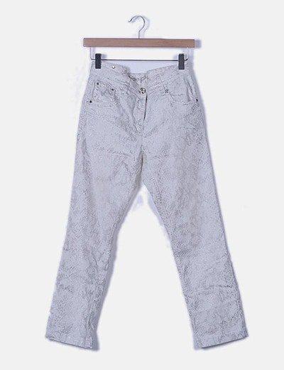 Pantalón denim animal print