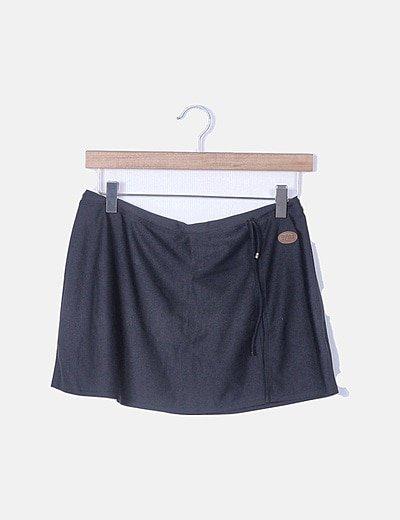 Mini falda elástica negra
