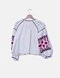 Kimono blanco mangas abullonadas rosa BBWM Woman