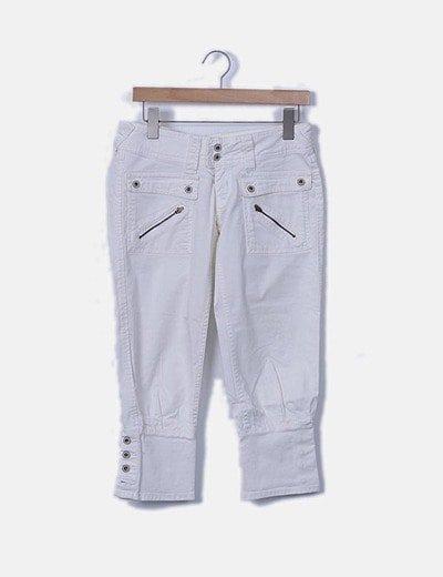 Jeans denim blanco bombacho