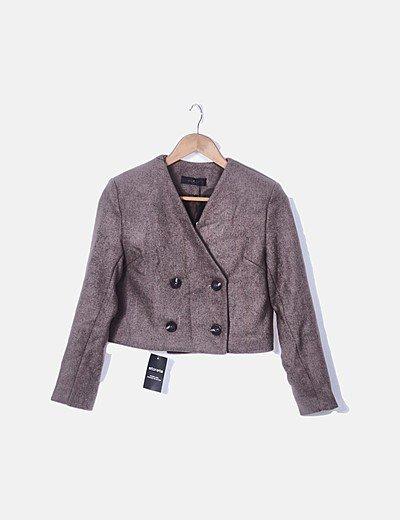 Conjunto de chaqueta y falda lana