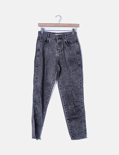Jeans denim boyfriend fit gris
