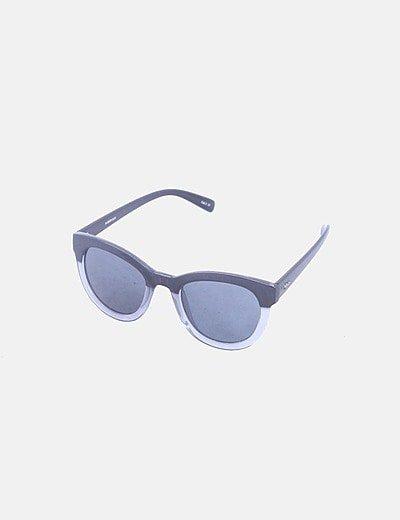 Gafas de sol bicolor negras