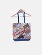 Bolsa azul bordado multicolor NoName
