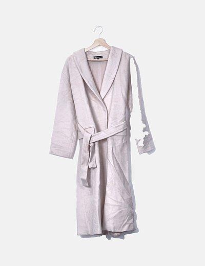 Abrigo largo rosa palo