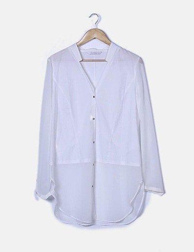 Camisa manga larga blanca oversize