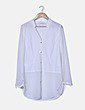 Camisa manga larga blanca oversize I BLUES CLUB