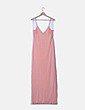 Vestido maxi de tirantes color rosa Zara