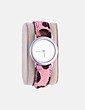Reloj animal print rosa Aurum