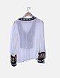Blusa blanca combinado multicolor Sfera