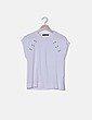 Camiseta blanca manga corta con tachas Sfera