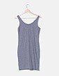 Vestido tirantes gris print H&M