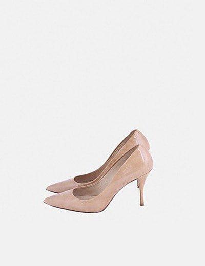 Zapatos salones charol camel