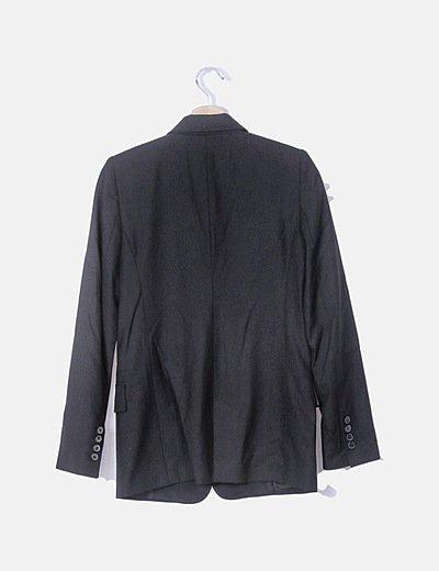 Zara Chaqueta negra de punto con volantes (descuento 70
