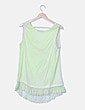Blusa verde con strass Comercio Modaland