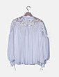 Blusa gasa blanca combinada NoName