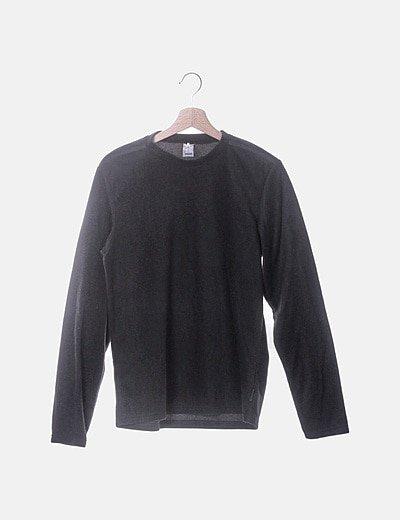Polar negro de manga larga