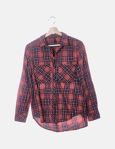 Camisa roja cuadros