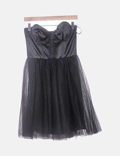 Vestido tul negro