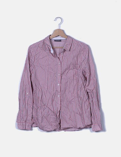 Camisa de manga larga con rayas