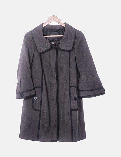 Abrigo marrón texturizado