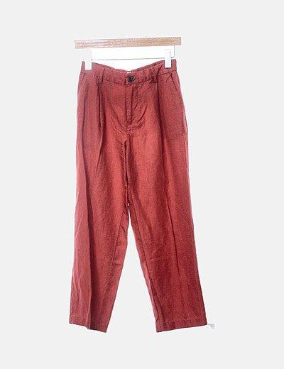 Pantalón chino teja