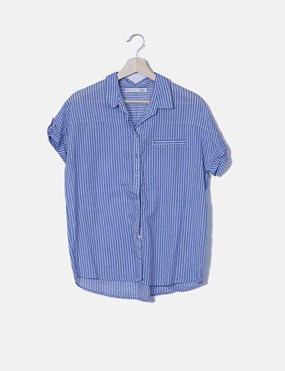 Camisa azul raya