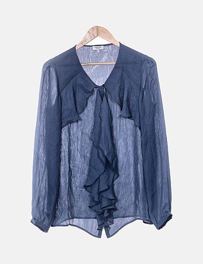 Blusa azul de gasa