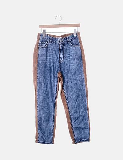 Jeans denim mon fit combinado