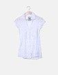 Camisa manga corta blanca Bershka