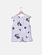 Blusa blanco roto floral Zara