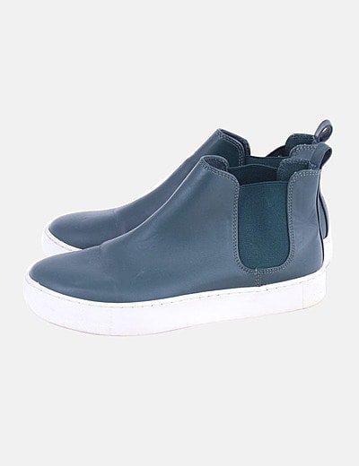 Sneaker botín verde