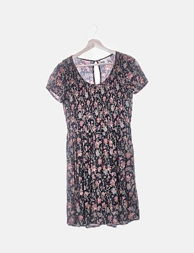 Vestido floral manga corta