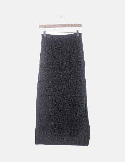 Maxi falda gris marengo