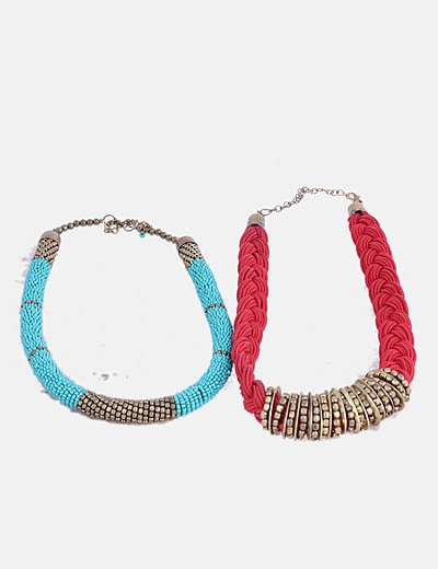 Conjunto de collares combinados