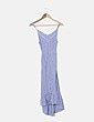Vestido de rayas azul y blanco espalda entrelazada ONLY