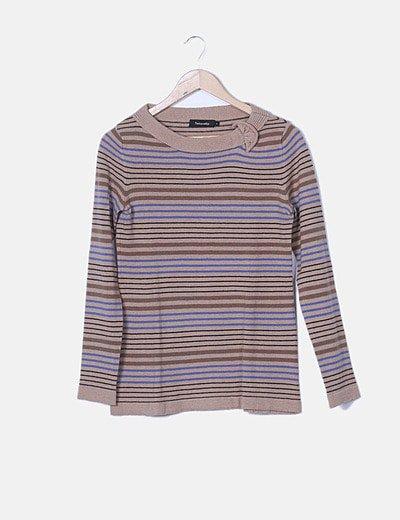 Jersey tricot de rayas