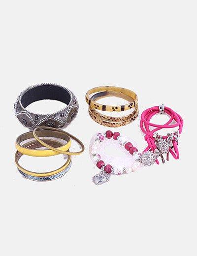 Pack pulseras multicolor