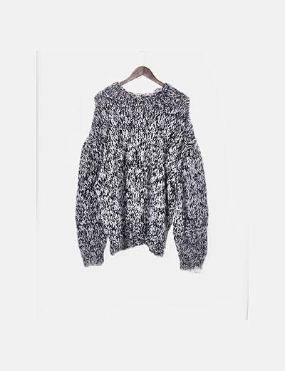 Jersey lana blanco y negro