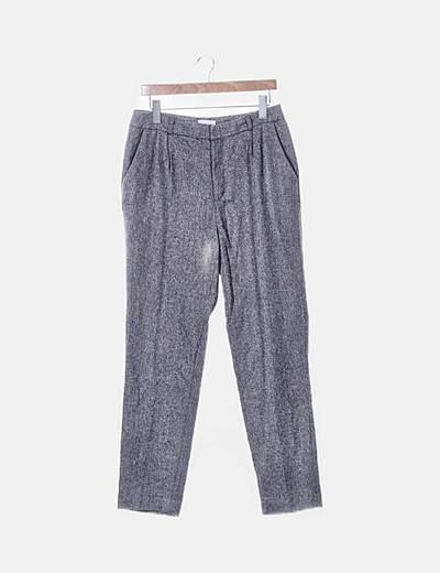 Pantalón espiga gris