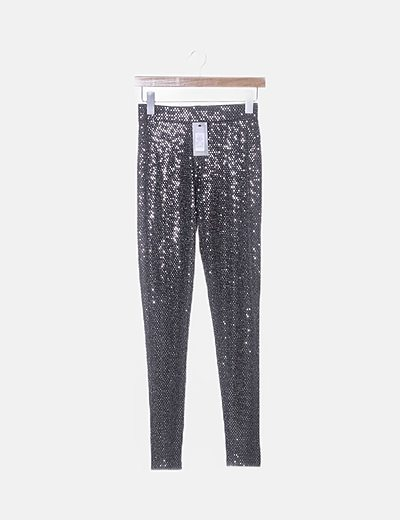 Leggings negro gliter