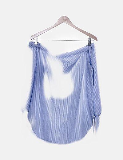 Blusa azul raya