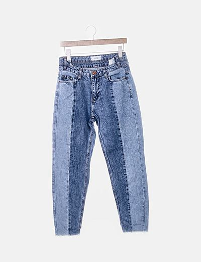 Pantalón denim detalle cintura
