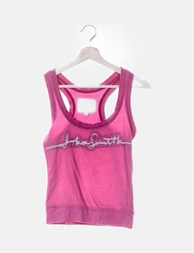 Camiseta rosa con espalda nadadora